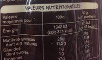 Ultra savoureux - Nutrition facts