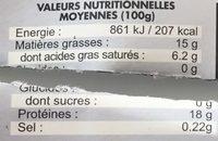 Steak Haché Façon Bouchère - Spécial Restauration - Informations nutritionnelles - fr