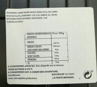 Viande hachée nature 15% MG Socopa - Ingrédients - fr