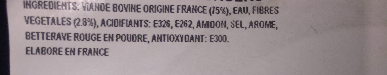 Burger du chef nature 15% Mat.gr - Ingredients - fr