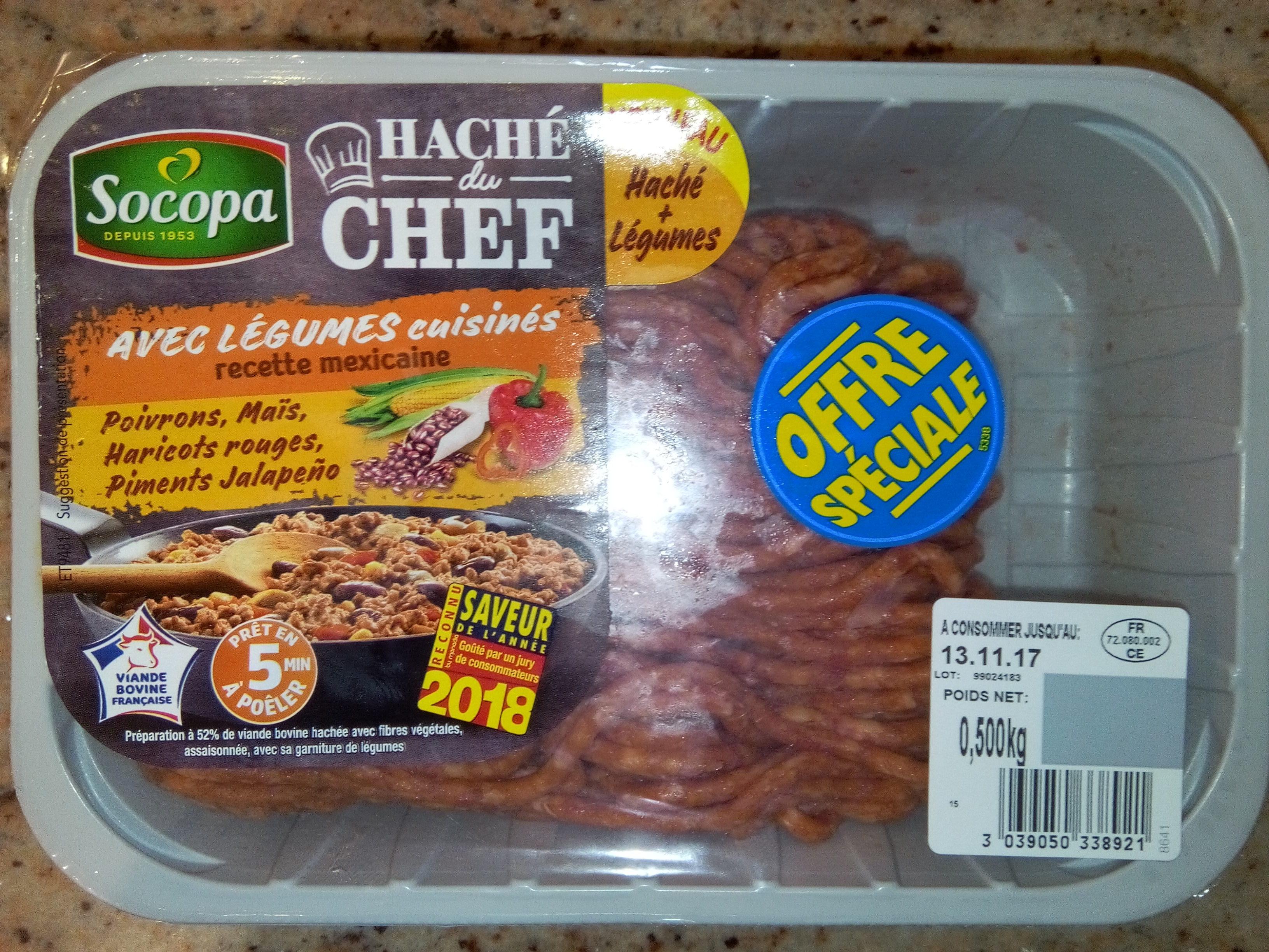 Haché du Chef avec Légumes Cuisinés - Produit