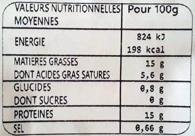 Brochettes extra tendre porc - Informations nutritionnelles - fr