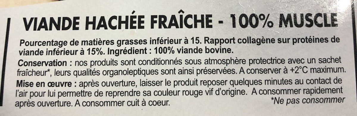 Hache tradition - Ingredients - fr