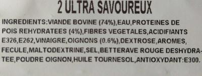 L'Ultra Savoureux à l'oignon - Ingrédients
