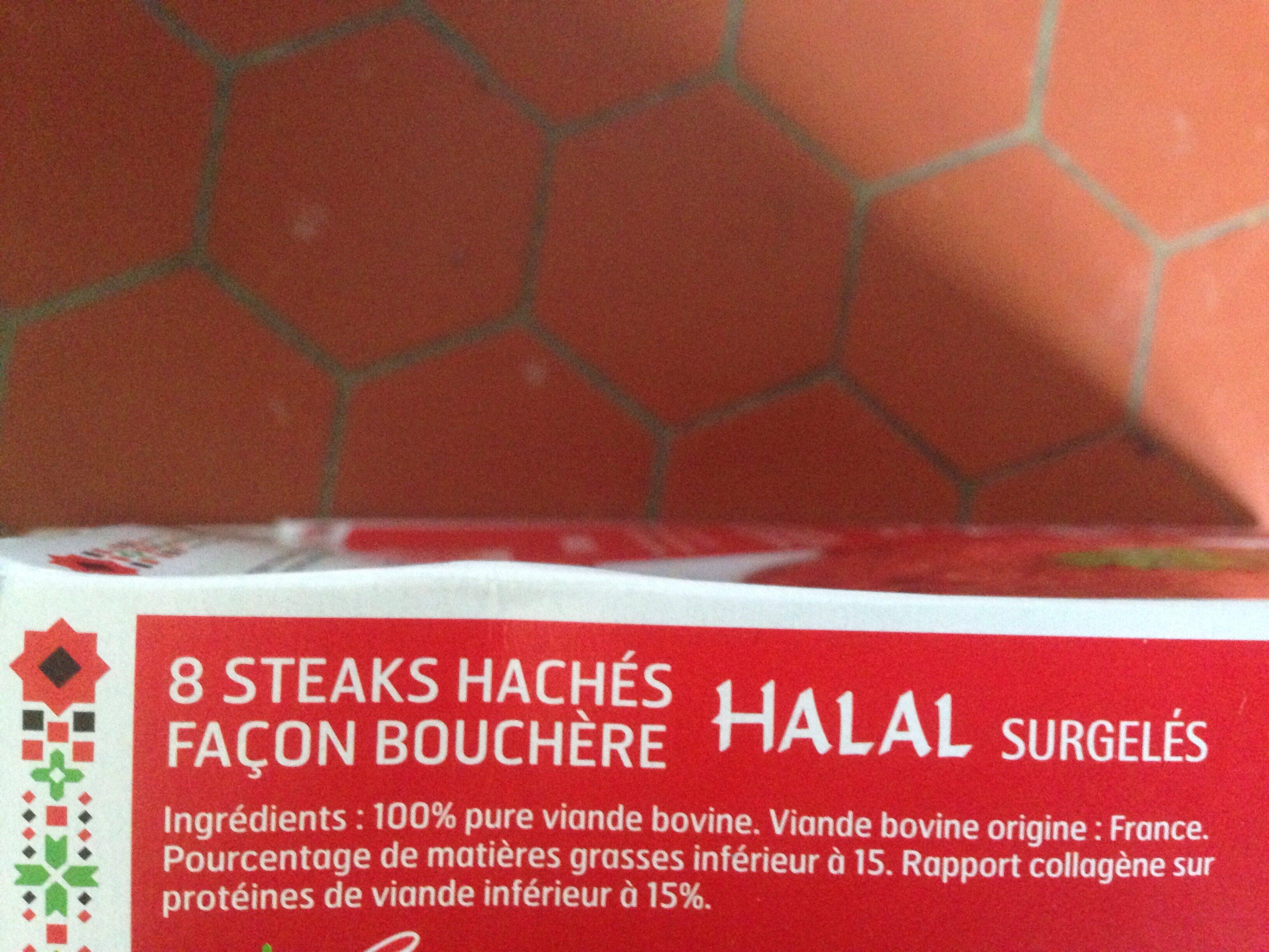 Steaks hachés façon bouchère Halal - Ingrédients - fr