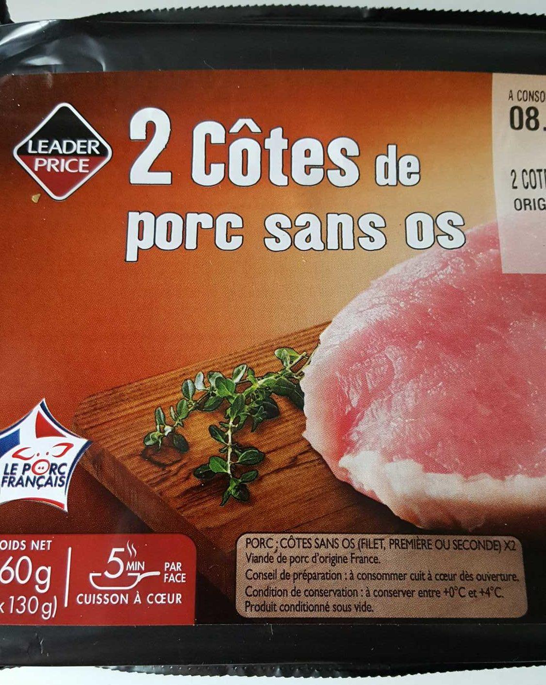 2 Côtes de Porc sans Os - Product - fr