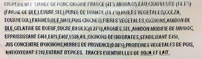 Cochon & Cie Croc' Tomate - Ingredients - fr