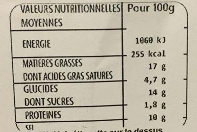 Cochon & Cie - 4 Croc'au fromage - Nutrition facts - fr
