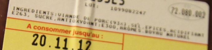 Saucisses de Toulouse (4 Saucisses) - Ingrédients - fr
