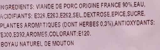 Chipolatas aux Herbes Façon Charcutière - Ingrédients - fr