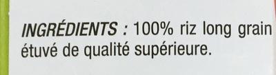Riz de France incollable - Ingrédients