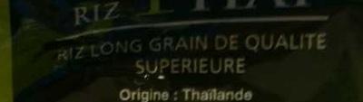Riz Thaï - Ingrédients