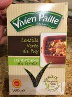 Lentille verte du Puy - AOP - 500 g - Vivien Paille - Produit