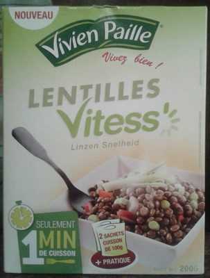 Lentilles Vitess - 200 g - Vivien Paille  - Product