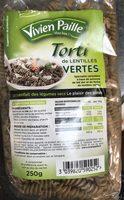Torti de lentilles vertes - Product