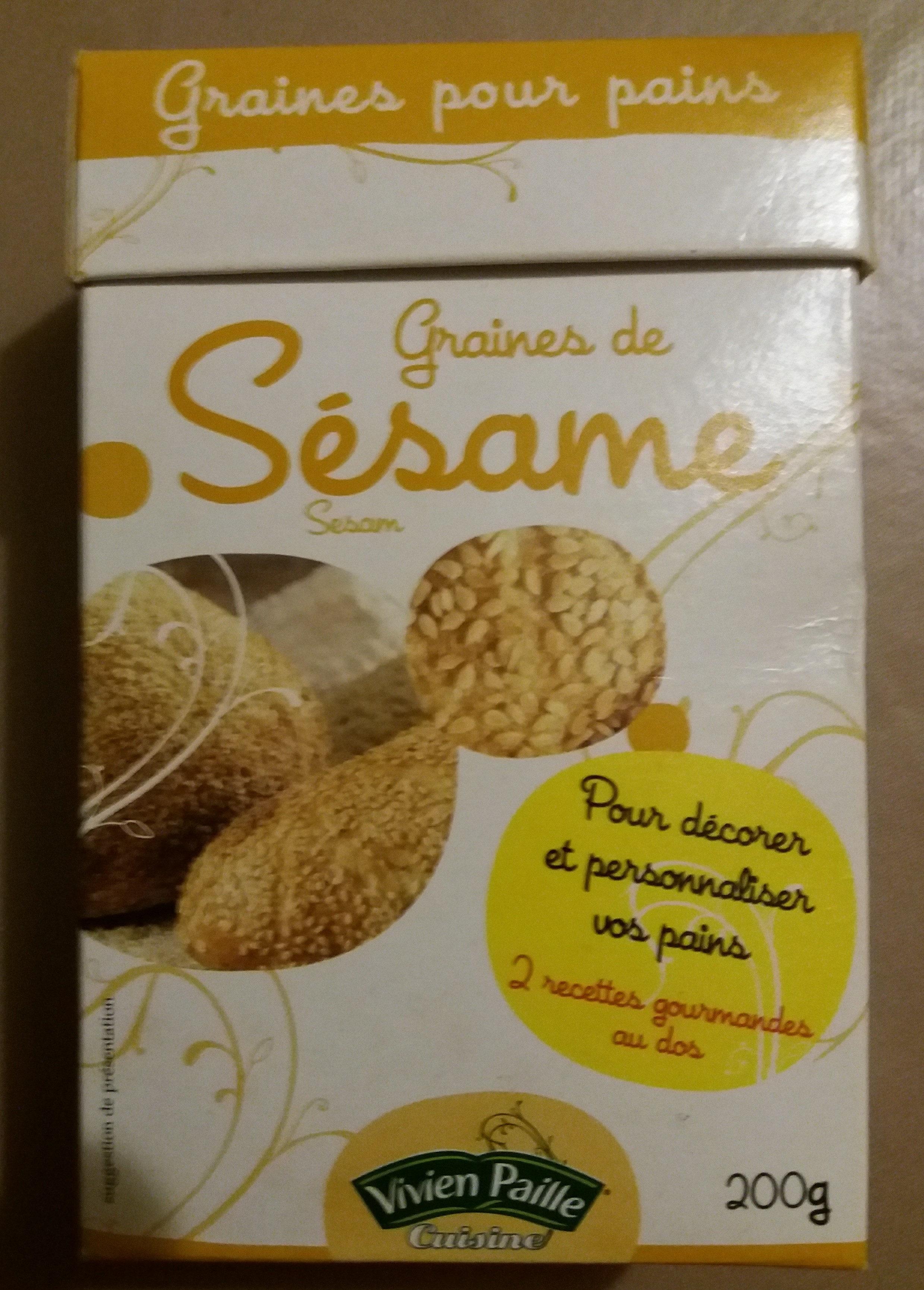 Graines de sésame Vivien Paille, Pour pain - Produit - fr