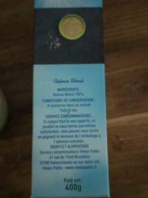 Quinoa d'Anjou - Ingredients - fr