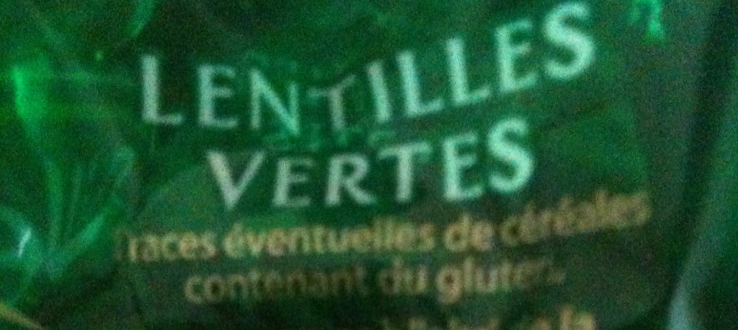 Lentilles vertes cello - Ingredienti - fr