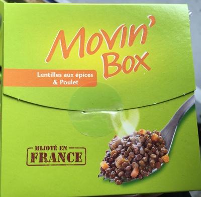 Movin' Box Lentilles aux épices & Poulet - Produit - fr