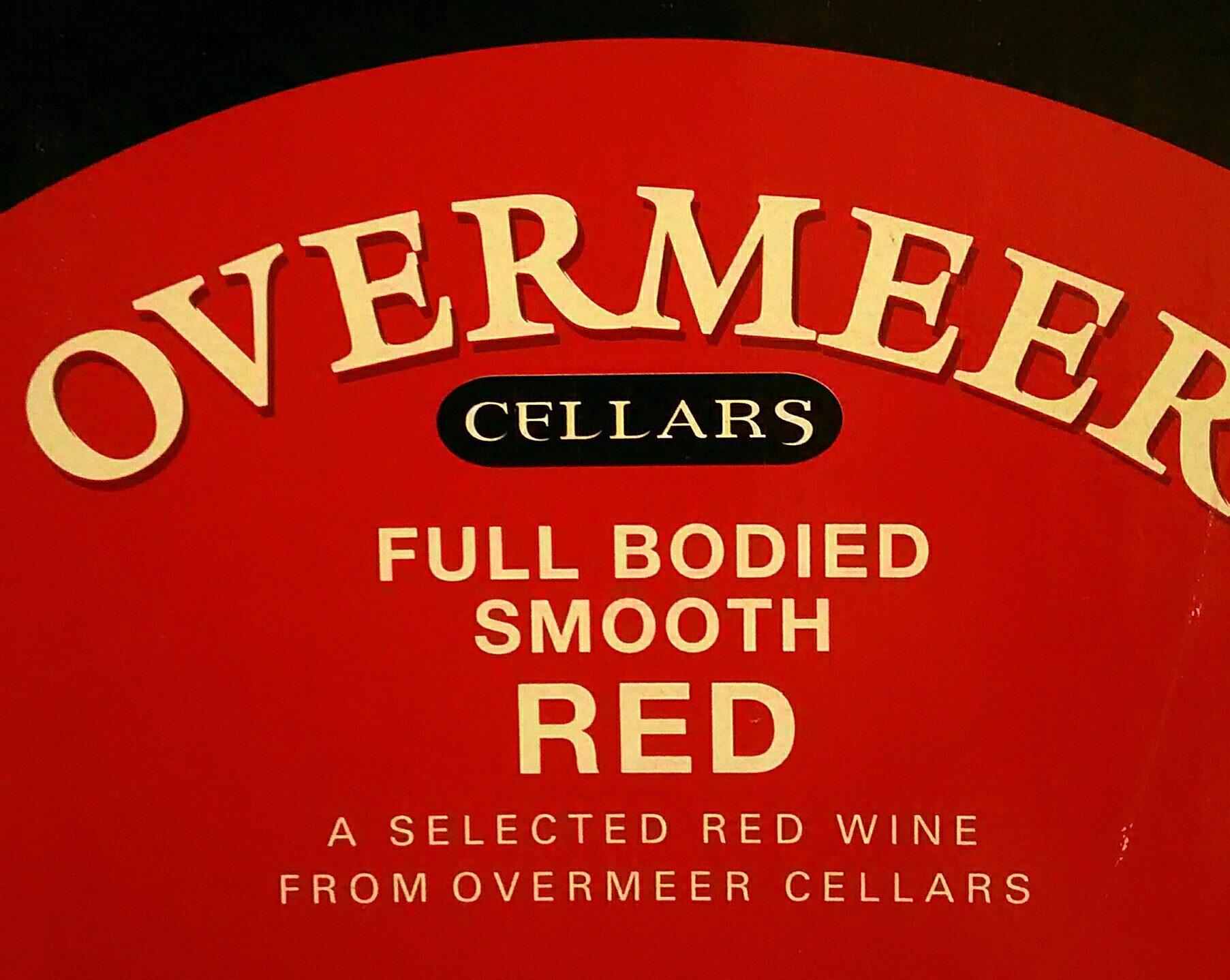 OVERMEER full bodied smooth red - Ingrédients - en