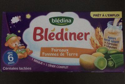 2X25CL Blediner Laitt Poireau PDT Bledina - Product - fr