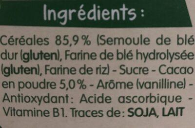 Blédine Cacao - Ingredienti - fr