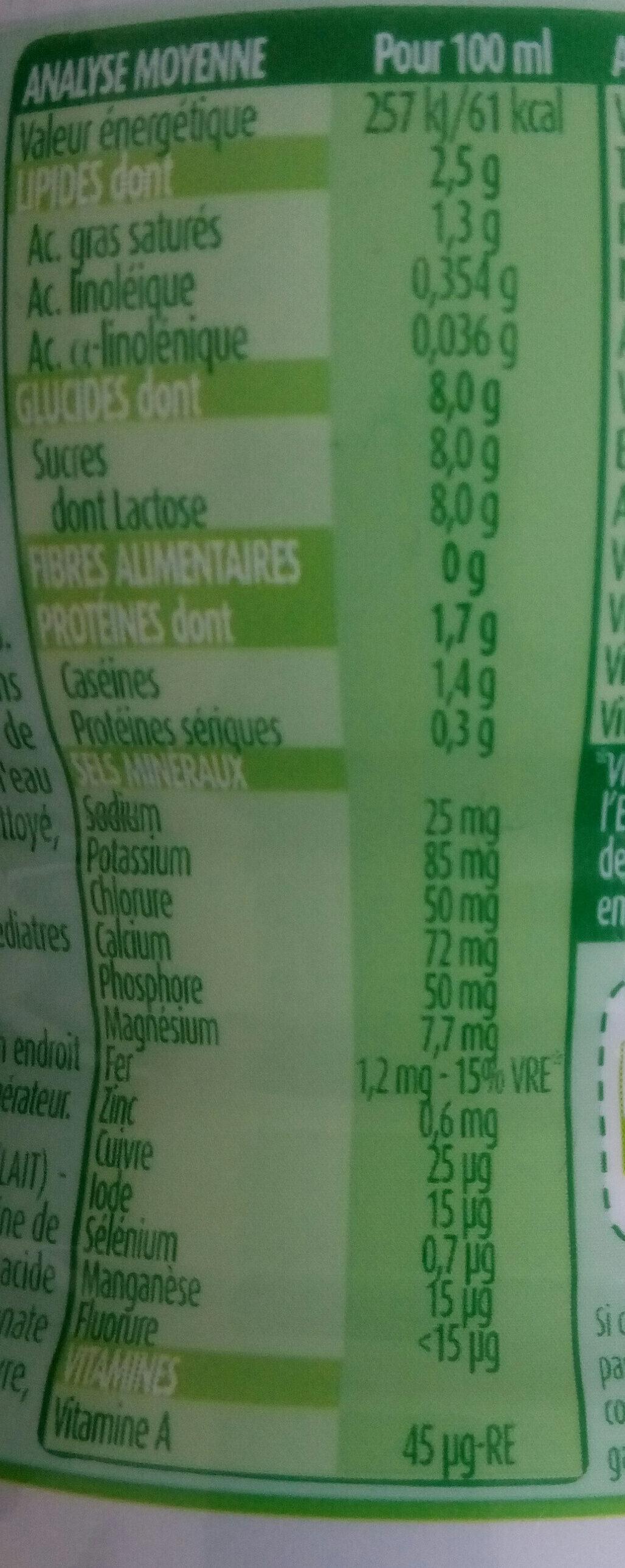 Blédilait Croissance - Informations nutritionnelles - fr