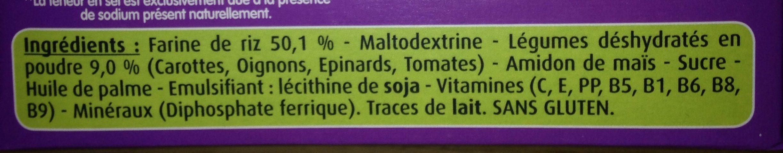 Céréales pour bébé aux légumes - Ingrédients - fr