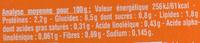 Blédichef Méli-mélo de légumes, riz et poulet - Nutrition facts