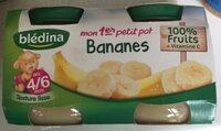 BLEDINA POTS FRUITS Mon 1er Petit Pot Bananes 2x130g Dès 4/6 Mois - Producto - fr