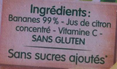 BLEDINA POTS FRUITS Mon 1er Petit Pot Bananes 2x130g Dès 4/6 Mois - Ingredientes - fr
