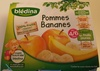 BLEDINA POTS FRUITS Pommes Bananes 4x130g Dès 4/6 Mois - Produit
