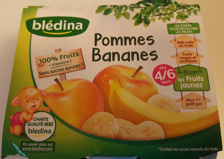 BLEDINA POTS FRUITS Pommes Bananes 4x130g Dès 4/6 Mois - Producto - fr