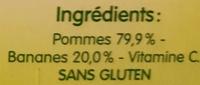 BLEDINA POTS FRUITS Pommes Bananes 4x130g Dès 4/6 Mois - Ingredientes - fr