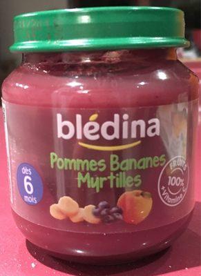 BLEDINA POT FRUITS 4x130g Pommes Bananes Myrtilles Dès 6 mois - Producto - fr