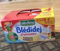 BLEDINA BLEDIDEJ Croissance Choco Vanille 4x250ml Dès 12 Mois - Produit - fr