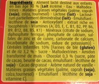 BLEDINA BLEDIDEJ Croissance Choco Vanille 4x250ml Dès 12 Mois - Ingrédients - fr