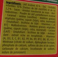 BLEDINA BLEDIDEJ Croissance Biscuité Saveur Vanille 4x250ml Dès 12 Mois - Ingrédients - fr