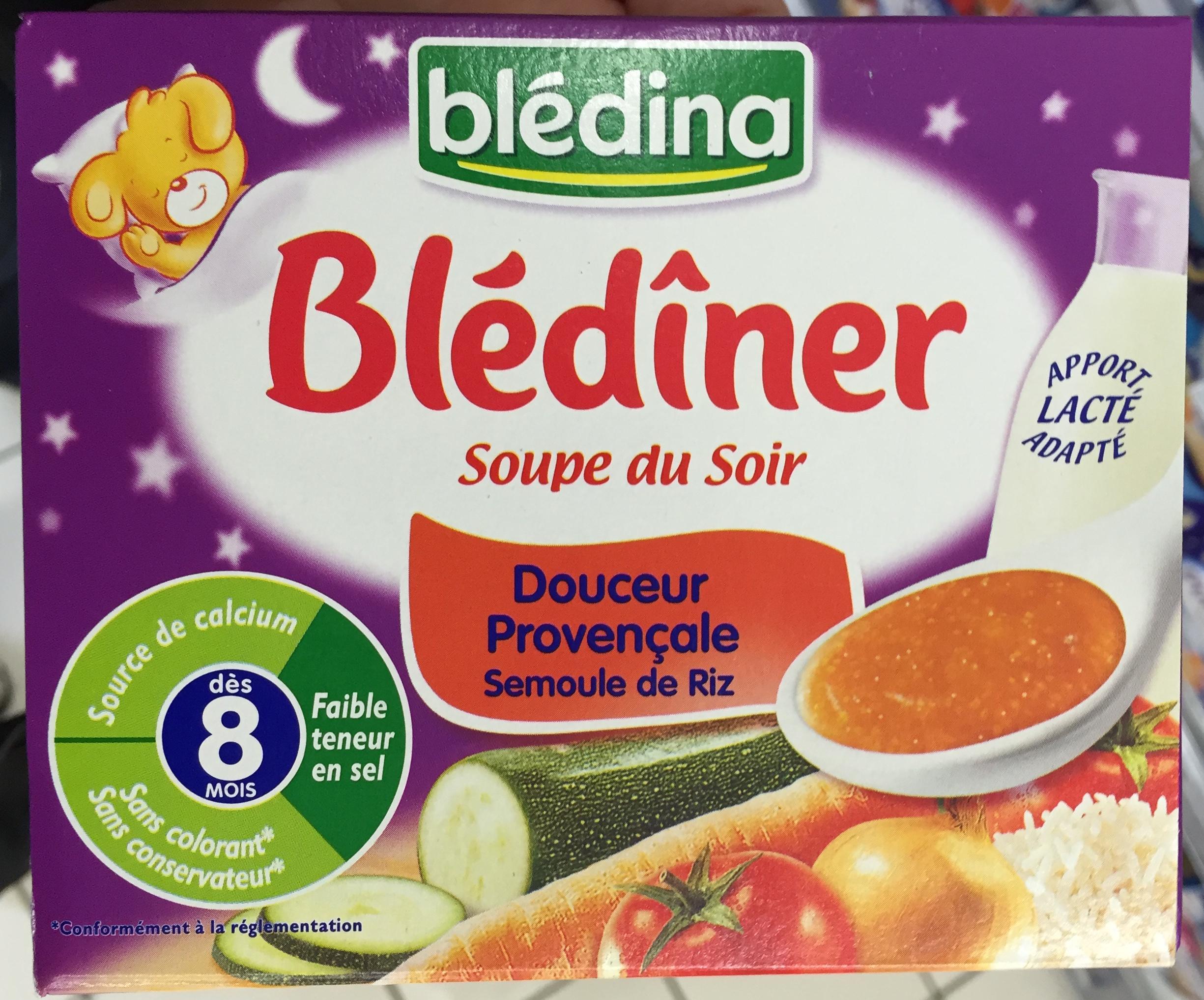 Blédîner Soupe du Soir Douceur Provençale Semoule de Riz - Produit - fr