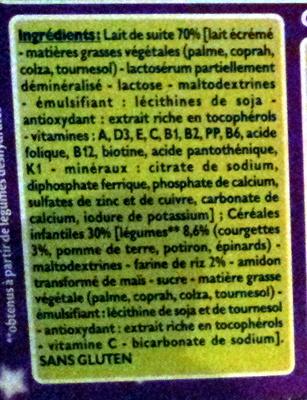 Blédîner courgettes - Ingrediënten