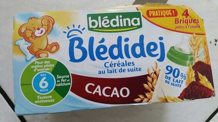 BLEDINA BLEDIDEJ Cacao 4x250ml Dès 6 Mois - Prodotto - fr
