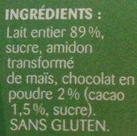 Blédi'Délice chocolat - Ingredients - fr