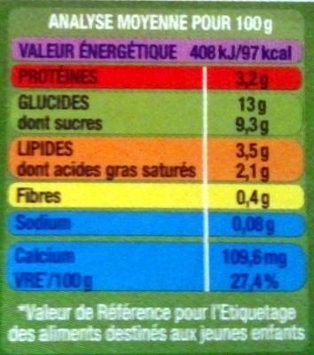 Blédi'Délice chocolat - Nutrition facts - fr