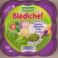Blédichef Douceur d'Épinards et Riz au Lait - Product - fr