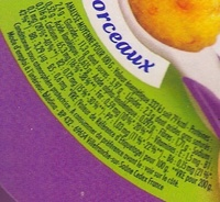Blédichef - Tendresse de semoule et son mouliné de carottes au lait - Informations nutritionnelles