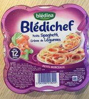 Blédichef, Petits spaghetti et sa sauce aux légumes au lait - Product