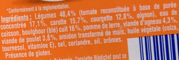 Blédichef - Couscous des tout petits - Ingrediënten - fr