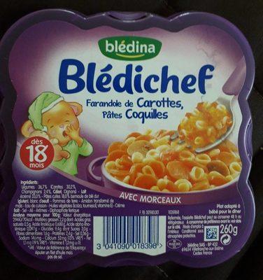 Farandole de carottes, pâtes coquilles - Product