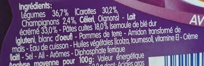 Farandole de carottes, pâtes coquilles - Ingredients