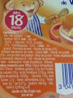 Blanquette de volaille - Informations nutritionnelles - fr